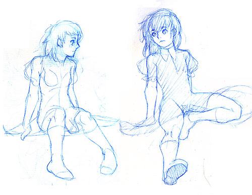 座ってるポーズも要練習。モチモチした足が好みだと最近気づきました
